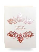 Antiquaria Rosegold Botanical Many Thanks Greeting Card