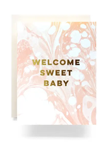 Antiquaria Marble Baby Greeting Card