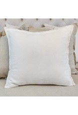 Crown Linen Designs Euro Sham, Provence - Off White - Fringe