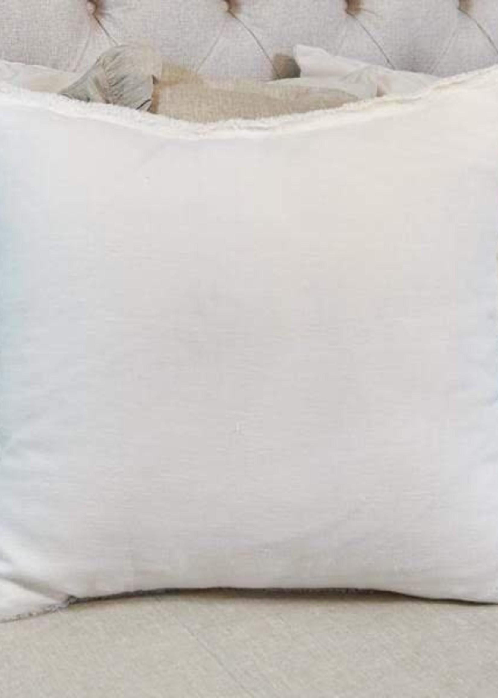 Crown Linen Designs Euro Sham, Provence - Off White - Fringe