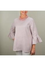 Crown Linen Designs Bella Linen Top, Dusty Pink, M