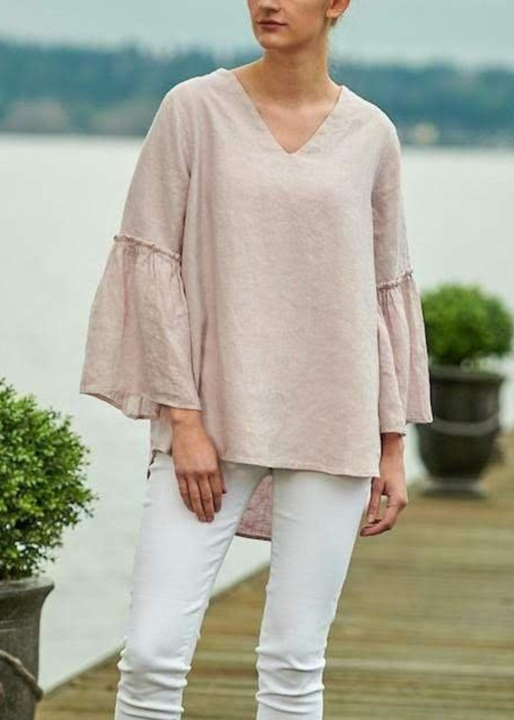Crown Linen Designs Maya Top, Dusty Pink, L