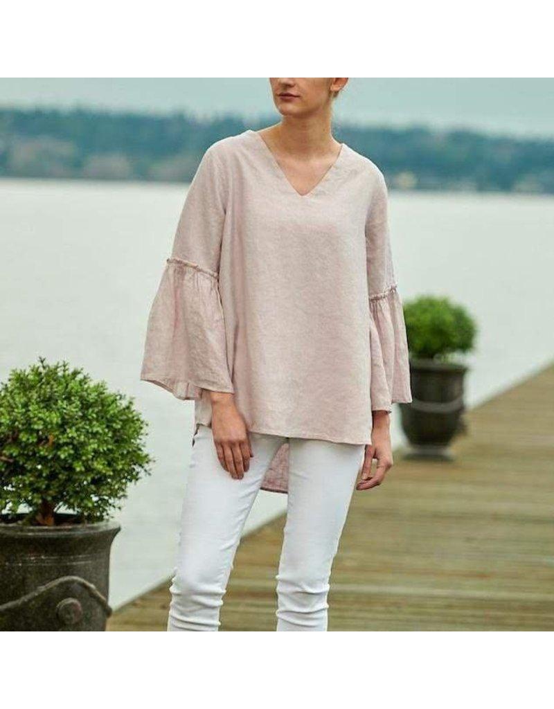 Crown Linen Designs Maya Top, Dusty Pink, XL