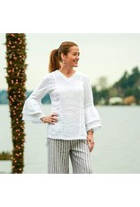 Crown Linen Designs Salma Top, White XS