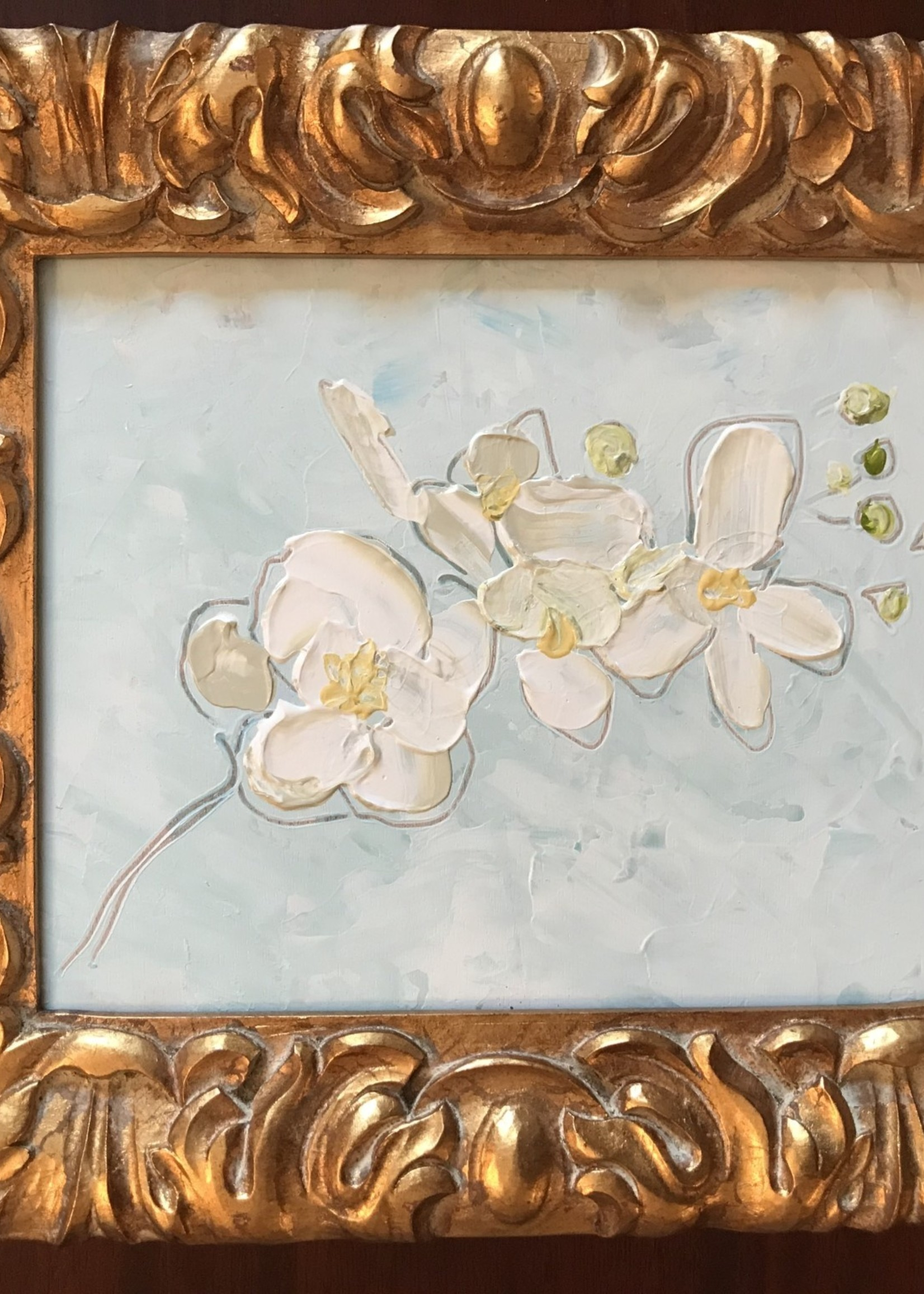 "Scott Ellis 8' X 10"" White Orchid Bloom"