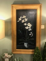 "Scott Ellis 16"" x 30"" White Orchid w Black Background"