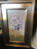 """Scott Ellis 8"""" x 16"""" Purple Flowers"""