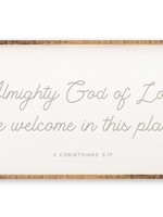 """Revelation Culture Almighty God 48"""" x 24"""" Wood Sign"""