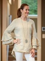 Crown Linen Designs Salma Top Flax - Medium