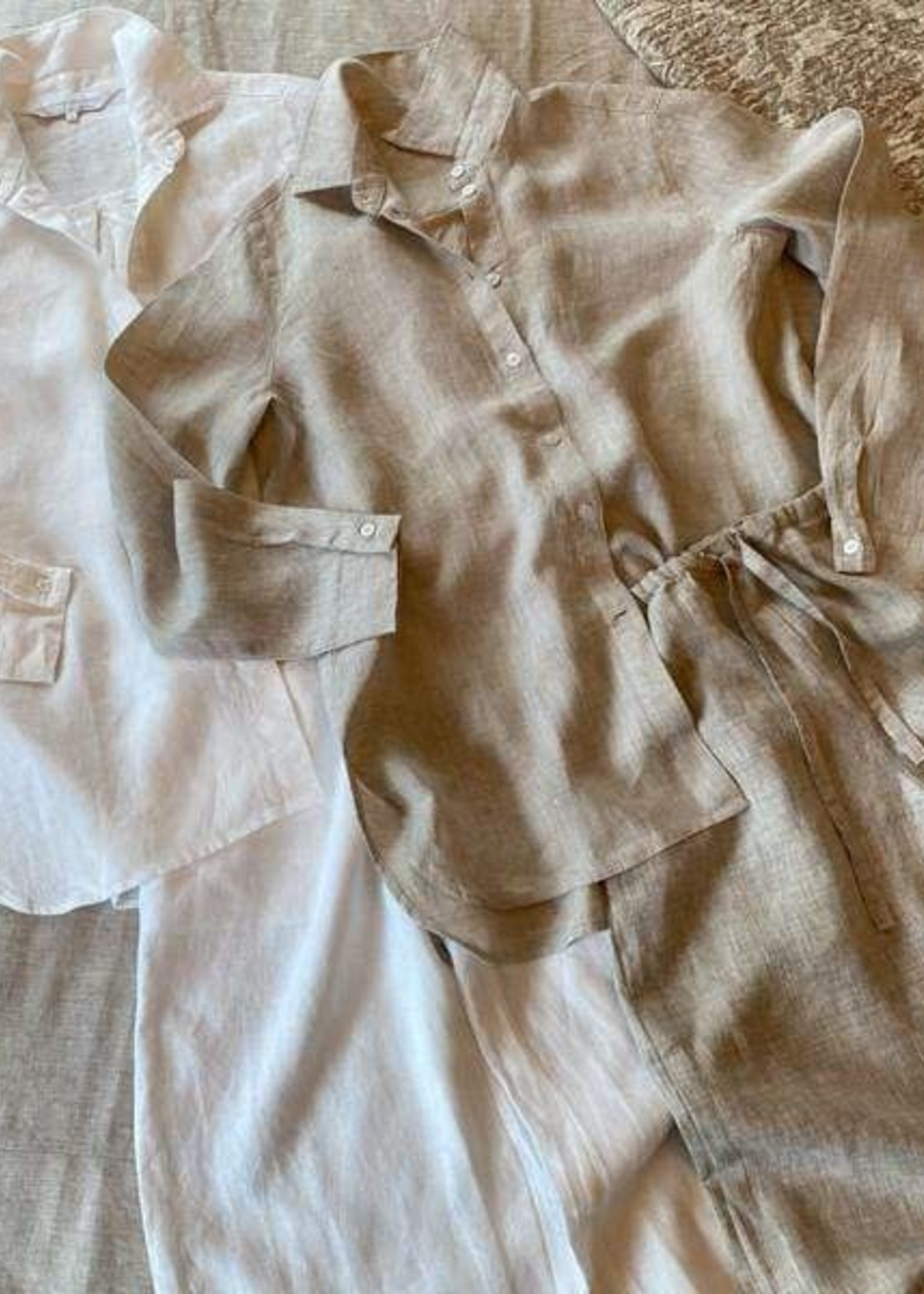 Crown Linen Designs Sammie Pajama Set Flax - Small