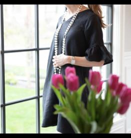 Crown Linen Designs Bethany Dress Black / L