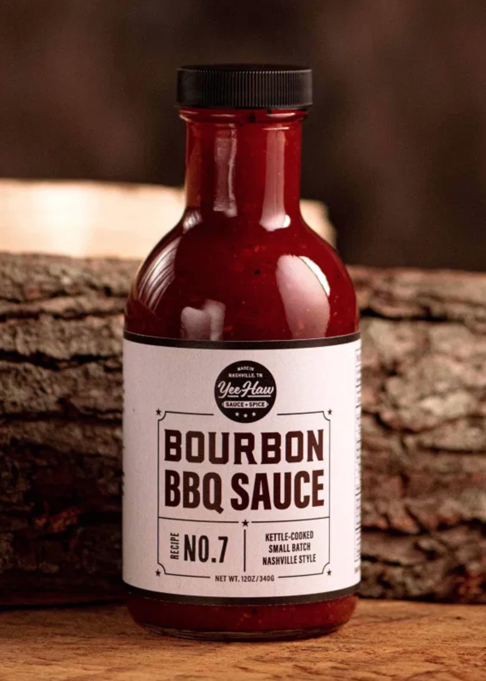 Yee Haw Sauce + Spice Bourbon Barbeque Sauce - 12 oz