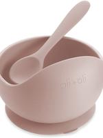 Ali + Oli Ali + Oli Suction Bowl & Spoon Set - Blush