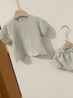 Vine and Branch Crinkle Top and Bloomer - 12-18M Mint