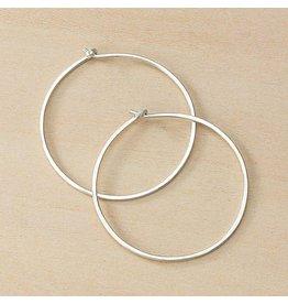 Freshie & Zero Minimal Medium Circle Hoops, SS