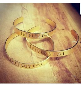 Revelation Culture Brass Cuff Tetelestai
