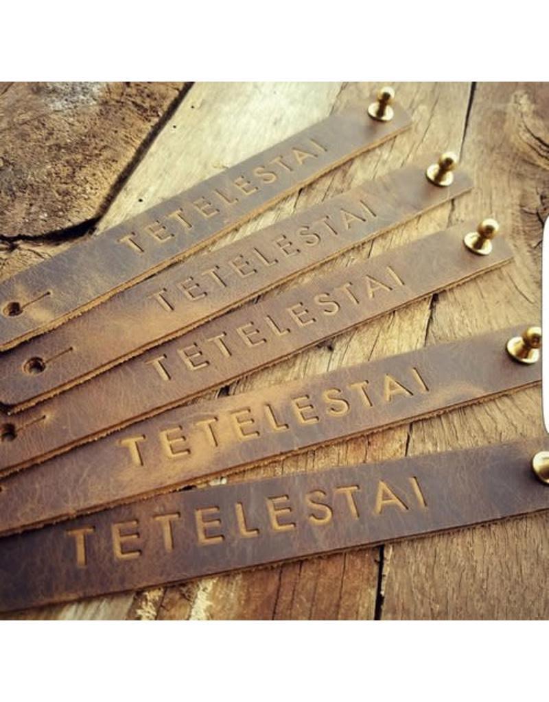 Revelation Culture Tetelestai Medium Leather Cuff