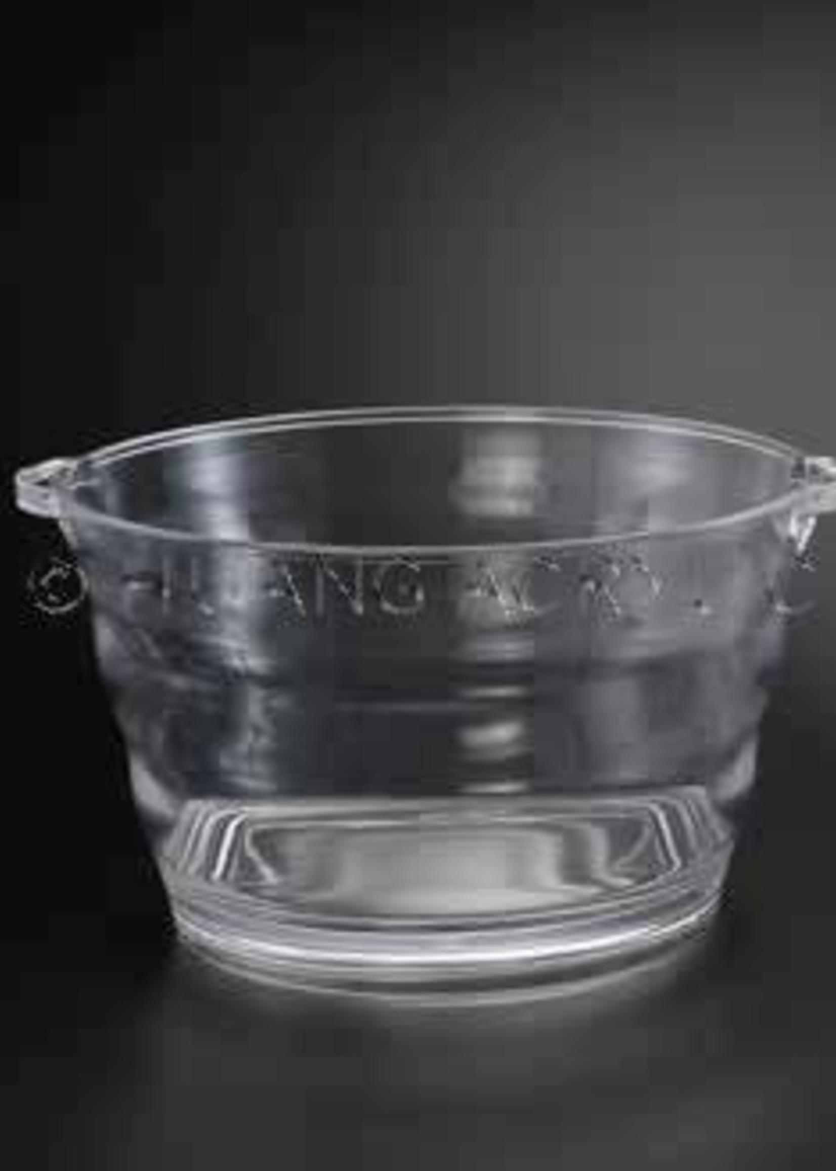 Heavy Jumbo 19.5 QT Oval Acrylic Bucket