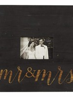 Mud Pie Mr. & Mrs. Black Square Frame 3.5x5
