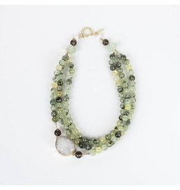 Ali & Bird Chunky Tourmaline with Druzy Necklace