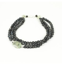 Ali & Bird Chunky Labradorite & Tourmaline Necklace