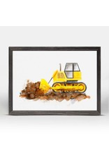 Greenbox Art 5x7 Mini Framed Canvas Bulldozer
