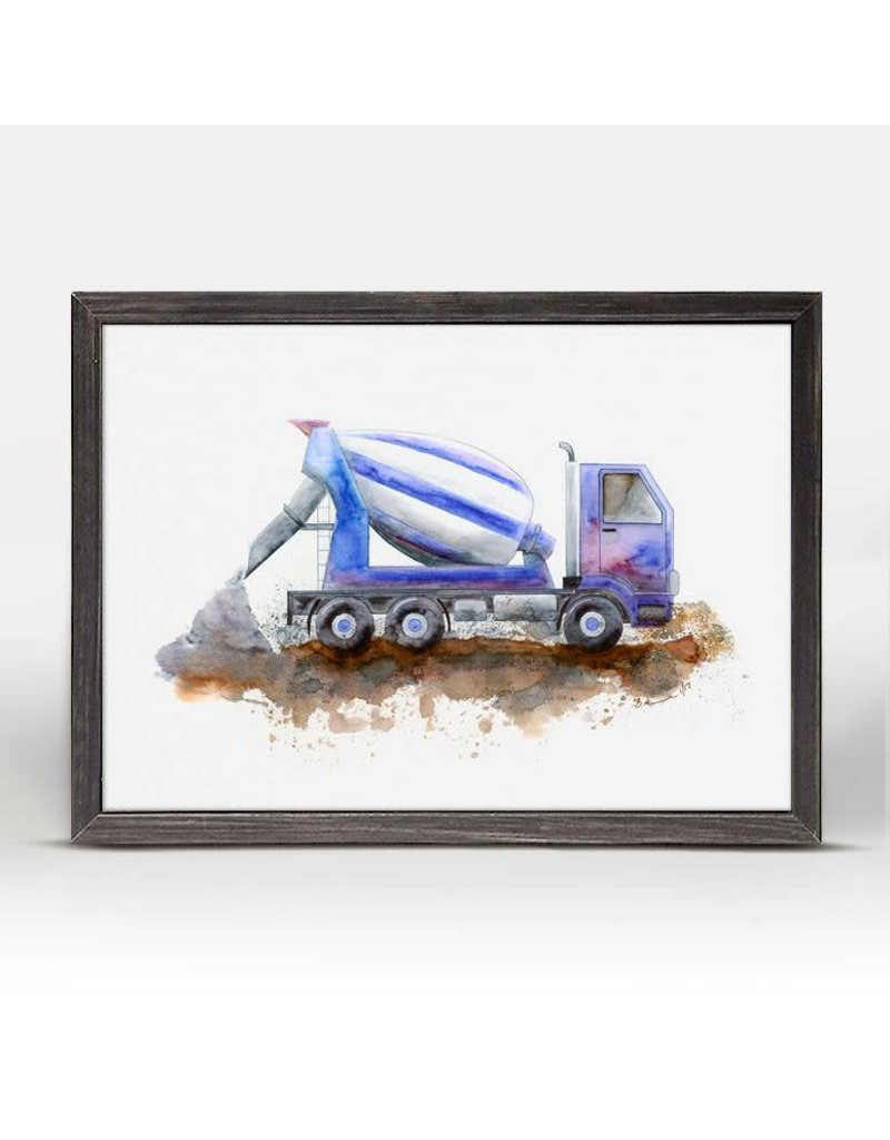 Greenbox Art 5x7 Mini Framed Canvas Cement Mixer