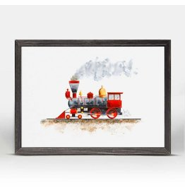 Greenbox Art 5x7 Mini Framed Canvas Steam Train