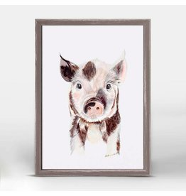 Greenbox Art 5x7 Mini Framed Canvas Piglet