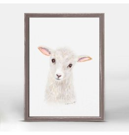 Greenbox Art 5x7 Mini Framed Canvas Lamb