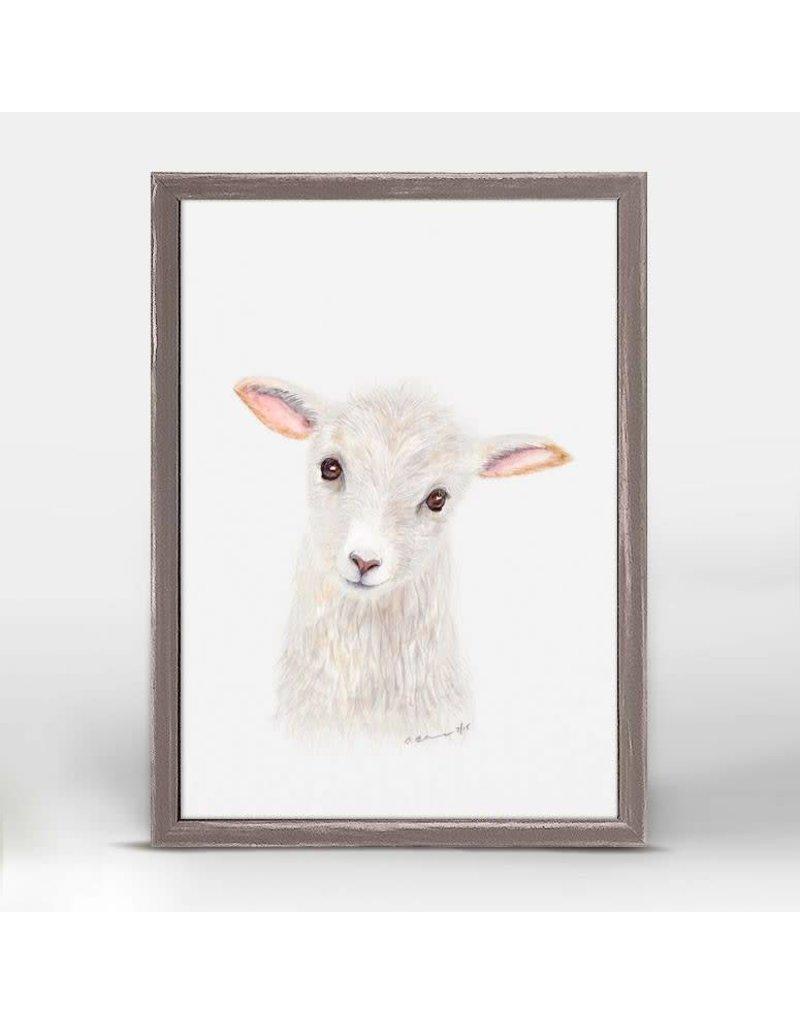 Greenbox Art 5x7 Mini Framed Canvas Lamb