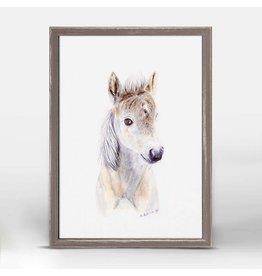 Greenbox Art 5x7 Mini Framed Canvas Baby Horse