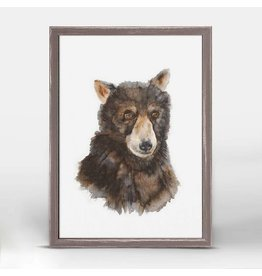 Greenbox Art 5x7 Mini Framed Canvas Bear Cub