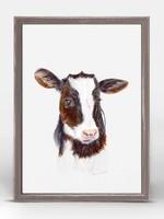 Greenbox Art 5x7 Mini Framed Canvas Baby Cow