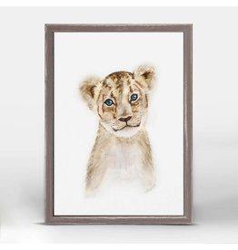 Greenbox Art 5x7 Mini Framed Canvas Lion Cub