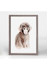 Greenbox Art 5x7 Mini Framed Canvas Baby Monkey