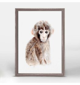 Greenbox Art 5x7 Mini Framed Canvas Baby Monkey