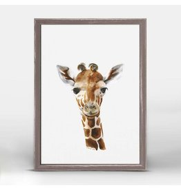 Greenbox Art 5x7 Mini Framed Canvas Baby Giraffe