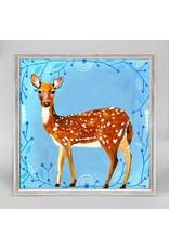 Greenbox Art 6x6 Mini Framed Canvas Painted Deer