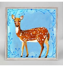Greenbox Art 6x6 Mini Framed Canvas Painted Deer