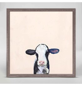 Greenbox Art 6x6 Mini Framed Canvas Baby Holstein Cow
