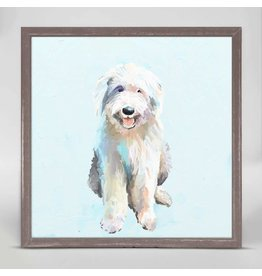 Greenbox Art 6x6 Mini Framed Canvas English Sheep Dog