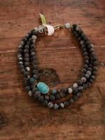 Ali & Bird Black Chunky Necklace with Druzy