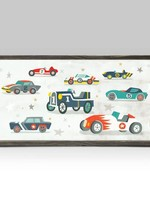 Greenbox Art 5x10 Mini Framed Canvas Vintage Racecar