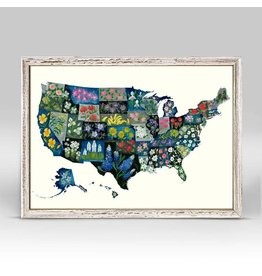 Greenbox Art United States State Flowers Mini Canvas