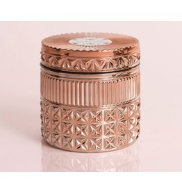 Capri Blue 11oz Rose Gold Faceted Jar Pink Grapefruit & Prosecco