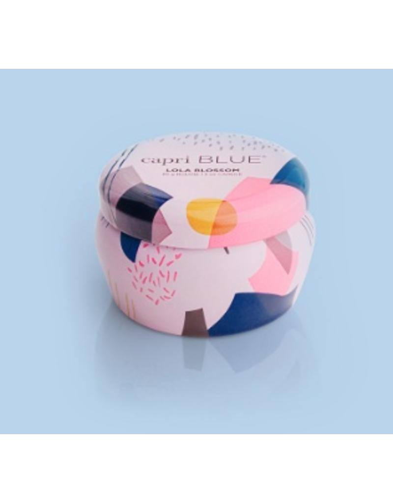 Capri Blue 3oz Pink Mini Tin Lola Blossom