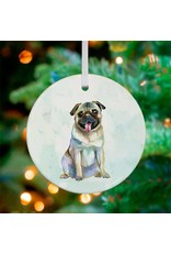Greenbox Art Pug Ornament