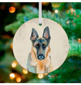 Greenbox Art German Shepherd Ornament