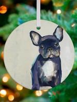 Greenbox Art Frenchie Pup Ornament